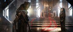 throne sci fi epic fantasy cgsociety concept alwyn talbot landscape dark