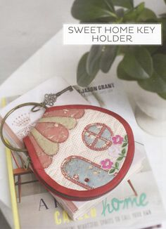 Ebook PDF Pattern Tutorial how to Sweet home key cover holder applique sewing quilt hand made