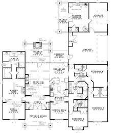 Arts and Crafts House Plan First Floor - 055S-0116 | House Plans and More