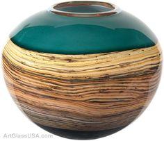 Strata series glass by Stephen Gartner & Danielle Blade, Gartner/Blade Glass