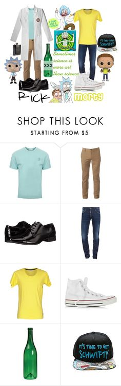 """""""Rick and morty (cosplay)"""" by erinne1 ❤ liked on Polyvore featuring Versace, Urban Pipeline, Calvin Klein, Dsquared2, Anerkjendt, Converse, Funko, men's fashion and menswear"""