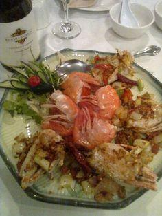 Sam Woo Restaurant & BBQ Express - Irvine, CA, United States. 游活水蝦, 蒸,醃椒 5星
