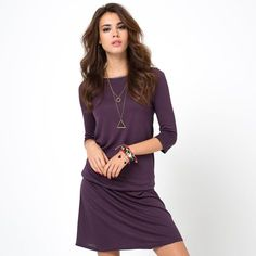 Robe manches 3/4 dentelle et maille R edition SHOPPING PRIX