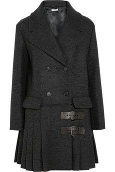 Miu Miu Pleated wool coat