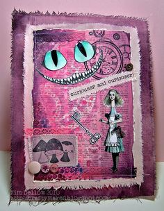 Altering pages with Alice in Wonderland from www.kimdellow.co.uk