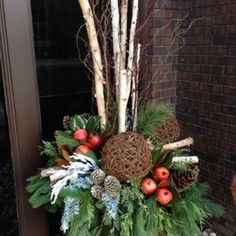 Van Belle's Florist in Courtice & Ajax Durham Region offers a Christmas Experience, with photos with Santa, Wreath, Urn and Centerpiece classes and seminars & more. Outdoor Christmas Planters, Christmas Urns, Outdoor Christmas Decorations, Rustic Christmas, Christmas Wreaths, Christmas Crafts, Christmas Ornaments, Holiday Decor, Winter Planter