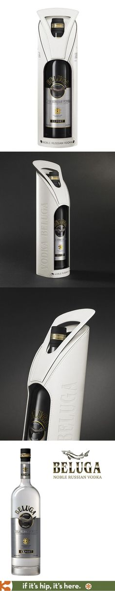 Beluga Noble Vodka comes in a lovely white leather embossed gift box. spirit mxm:
