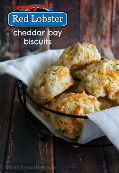 Copycat Red Lobster Cheddar Bay Biscuits - I Wash You Dry