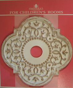 Mediterranean Vine Ceiling Medallion by Marie Ricci. Shown in distressed white. www.mariericci.com  $145
