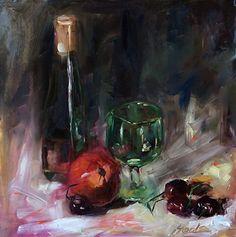 Reflections by Hoda Nicholas Oil ~ 12 x 12