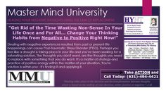 Dealing with negative experiences resulted from past or present life circumstances can cause Post-Traumatic Stress Disorder (PTSD). Perhaps you feel like a drought is taking place in your life and you've been seeking for a positive solution. Master Mind University (MMU) will help you.