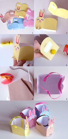 FREE Printable Easter Bunny Box for kids