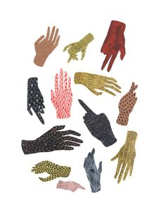 Yes! So excited about this print! Hands! // varia spell. print // Hand Pattern Illustration #pattern #etsy #illustration
