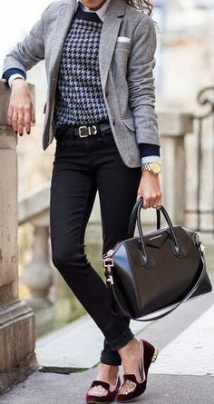 Stunning Shoes Tight Jeans Leather Bag