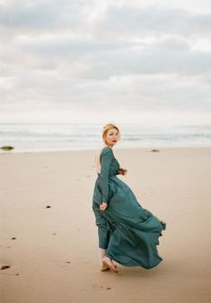 Penesula / Dark emerald Romantic wedding gown Alternative wedding dress boho bridesmaid dress flying silk with low back dress long sleeves by VICTORIASPIRINA to Etsy Green Wedding Dresses, Wedding Bridesmaid Dresses, Boho Wedding Dress, Boho Dress, Wedding Dress Sleeves, Long Sleeve Wedding, Low Back Dresses, Alternative Wedding Dresses, Perfect Wedding Dress