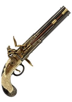 Double Barrelled Turnover Flintlock Pistol – 1750.