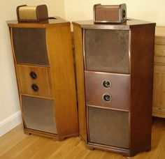 Vintage 1947 Wharfedale Corner Speakers (W10/CS and W12/CS drivers) | eBay