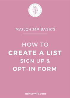 Email marketing is essential in growing your blog and online business. At first, you might feel intimated by it, especially when you don't like tech stuff, but actually, it's super easy to set up. In this post, I'll prove it to you, that you don't need to be a tech guru to set up MailChimp correctly. In my post, you'll learn how to set up your list, how to set up sign up form and how to create opt-in (embedded) forms in MailChimp so you can start collecting emails today!