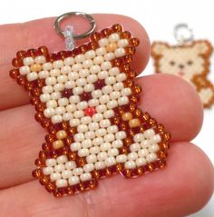Cute Teddy Bear Charm Beaded Animal Jewelry by BeadCrumbs on Etsy