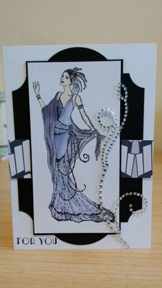 Art deco stamped lady.