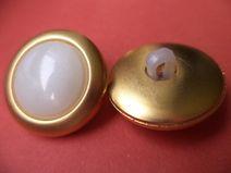 9 Knöpfe gold weiß 22mm (1760-4)Jackenknöpfe Knopf