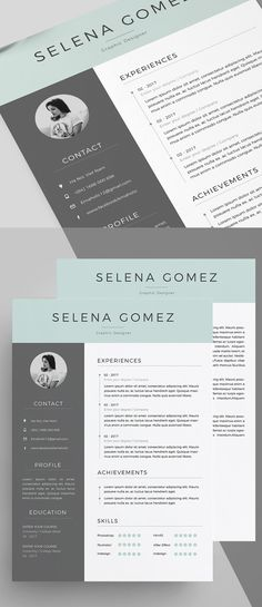 Free Resume Template and Icons (PSD) … | The Design Tools. | Pinte…
