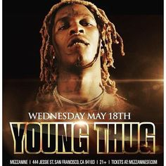Thugger in the City! Hit me for tables all tickets sold @ MezzanineSF.com by djhellrell