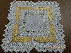 Tie a yellow ribbon - Hardanger doily on eBay!