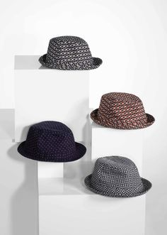 Paul Smith men's 'Copaiba Beach' print trilby hats // He's now wearing the blue one. (Sept. 14, 2013)