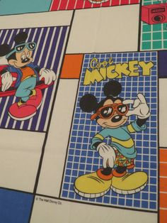 Vintage Cool Mickey Twin flat sheet