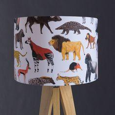 Safari animals lampshade