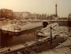 Construction du Métro, 1900