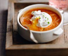 Soupe tomates oeuf Lignac