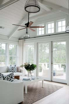 Coastal Cottage Interior Design Inspiration Part 1 {Get the Look!} Coastal Cottage Interior Design Inspiration Part 1 {Get the Look!} The post Coastal Cottage Interior Design Inspiration Part 1 {Get the Look!} appeared first on Design Diy. Coastal Living Rooms, Living Room White, Coastal Cottage, Living Room Interior, Living Room Decor, Coastal Style, Beach Cottage Style, Lake Cottage, Cottage House