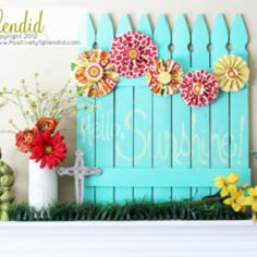 Link to project here: http://www.positivelysplendid.com/2012/03/chalkboard-picket-fence-pallet-tutorial.html