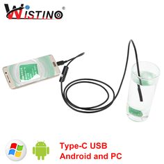 8mm Soft Cable Mini Endoscope Android Type-c USB Camera Waterproof Car Pipe Inspection Surveillance 5m Snake Industrial Wistino