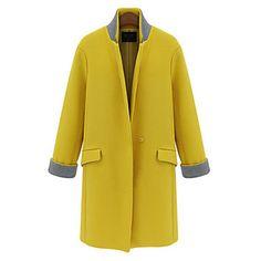 Women's New fashion Long Woolen Coats(More Color) – USD $ 37.79