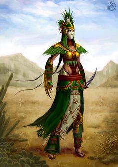 Michael D. Kim's Art: Aztec Warrior