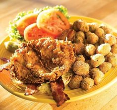 Tupelo Honey. The Southern fried chicken BLT includes crispy, hormone-free chicken breast, maple-pepper bacon, dijonnaise, lettuce, and tomato on an artisanal bun. Complete it with a side of fried okra.