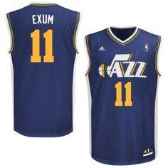 e5bdd5d559 Utah Jazz No.11 Dante Exum 2014 NBA Draft Pick Navy Blue Men's Basketball  Jersey