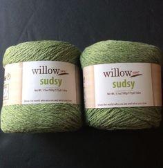 Willow Yarns Sudsy Yarn Lot of 2 Skeins Cotton Poly Blend Kiwi Green 3 5 oz 175Y   eBay