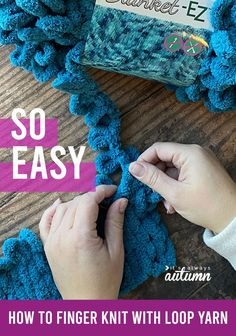Everything you need to know about loop yarn! You can finger knit gorgeous blankets in no time without needles or even knowing how to knit. Lion Brand Patterns, Buffalo Plaid Blanket, Cable Knit Blankets, Different Stitches, Finger Knitting, Yarn Projects, Chunky Yarn, Knitting Needles, Homemade Gifts