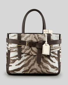 Reed Krakoff Boxer Tote Bag,  Chocolate Tiger - Neiman Marcus