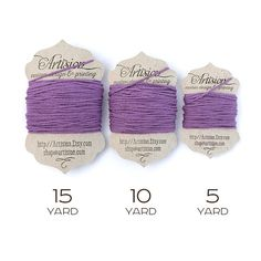 Purple Cotton Bakers Twine 240 yards 4 ply made in USA