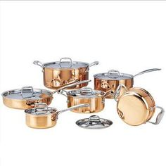 Cheap cooking pot, Buy Quality pots and pans directly from China cookware set Suppliers: High-grade Copper 6 Pieces Cooking Pots With Frying Pan Stainless Pot Hot Pot And Pans Cookware Set Cooking Tools, Easy Cooking, Cooking Recipes, Cooking Classes, Copper Cooking Pan, Copper Cookware Set, Pots And Pans Sets, How To Cook Asparagus, Pan Set