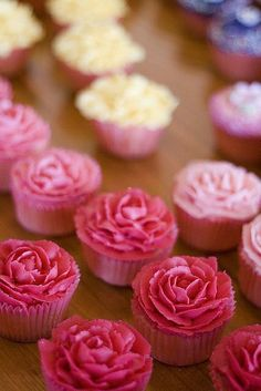 Cupcakes rosas fucsia