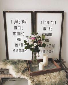 Design Ideas | Bedroom Decor | Fixer Upper Style | Joanna Gaines | Farmhouse Style | Farmhouse Sign | Wood Sign | Rustic Sign | Shiplap | Rustic Home Decor