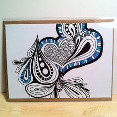e. e. cummings i carry your heart zentangle by DesignsByAnnalise
