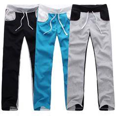 Black Splicing Sport Pants