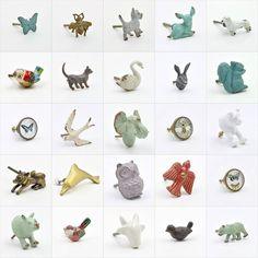 Some of the animal cupboard knob designs at http://ift.tt/2dfkAai #animal #animals #collage #cute #collection #doorhandles #doorknobs #doorknob #knobs #knob #interior #interiors #homewares #decor #interiordesign #interiordecor #interiordecorating #eclectic #eclectichome #vintagedecor #abodent